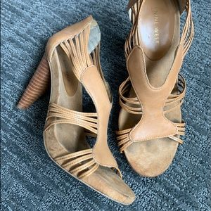 Nine West strappy Spring stacked heel size 7